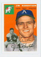 Jim Robertson AUTOGRAPH Topps 1954 Archives Athletics 