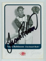 Frank Robinson AUTOGRAPH 2001 Fleer Greats of the Game #65 Orioles 