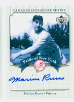 Marius Russo AUTOGRAPH d.05 2003 Pride of the Yankees CERTIFIED 