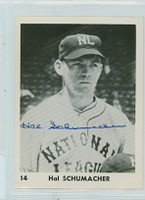 Hal Schumacher AUTOGRAPH d.93 NL All Stars Collector Set, Glossy, Blank Back Giants 