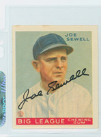 Joe Sewell AUTOGRAPH d.90 Dover Reprints 34 Goudey Yankees 