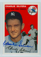 Charlie Silvera AUTOGRAPH Topps 1954 Archives #96 Yankees 
