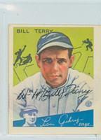 Bill Terry AUTOGRAPH d.89 Dover Reprints 33 Goudey Giants 