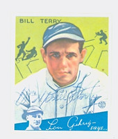 Bill Terry AUTOGRAPH d.89 HOF 1934 Goudey Dover Reprint Giants 