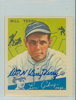 Bill Terry AUTOGRAPH d.89 Dover Reprints 1934 Goudey Giants 