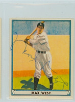 Max West AUTOGRAPH d.03 Dover Reprints 1940 Play Ball Braves 