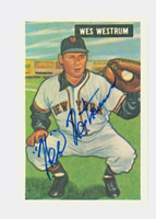 Wes Westrum AUTOGRAPH d.02 Dover Reprints Giants 