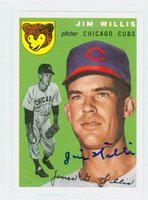 Jim Willis AUTOGRAPH Topps 1954 Archives Cubs 