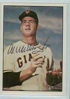 Al Worthington AUTOGRAPH 1979 TCMA The Fifties Giants 