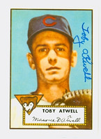 Toby Atwell HIGH # AUTOGRAPH d.03 1952 Topps 1983 Reprint Cubs 