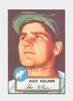 Alex Kellner AUTOGRAPH d.96 1952 Topps 1983 Reprint Athletics 