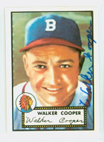 Walker Cooper AUTOGRAPH d.91 1952 Topps 1983 Reprint Braves 