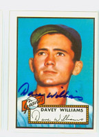 Davey Williams HIGH # AUTOGRAPH d.09 1952 Topps 1983 Reprint Giants 