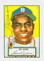 Sam Jethroe AUTOGRAPH d.01 1952 Topps 1983 Reprint Braves 