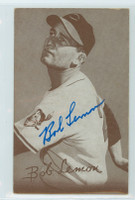 Bob Lemon AUTOGRAPH d.00 1947-66 Exhibit Indians 