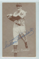 Willard Marshall AUTOGRAPH d.00 1947-66 Exhibit Giants 