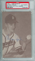 Warren Spahn AUTOGRAPH d.03 1947 Exhibit Braves PSA/DNA 