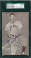 Wally Westlake AUTOGRAPH 1947 Exhibit Pirates SGC/JSA 