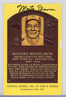 Hall Of Fame Plaque Gold Monte Irvin AUTOGRAPH Giants 