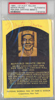 Hall Of Fame Plaque Gold Monte Irvin AUTOGRAPH Giants PSA/DNA 
