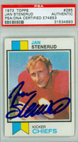 Jan Stenerud AUTOGRAPH 1973 Topps Football Chiefs PSA/DNA 