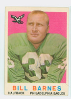 Bill Barnes AUTOGRAPH 1959 Topps Football Eagles 