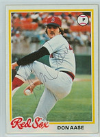 Don Aase AUTOGRAPH 1978 Topps #12 Red Sox   [SKU:AaseD6006_T78BBLRjl]