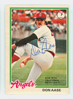 Don Aase AUTOGRAPH 1978 O-Pee-Chee #12 Red Sox 