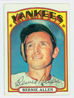 Bernie Allen AUTOGRAPH 1972 Topps #644 Yankees CARD IS F/G; CREASE
