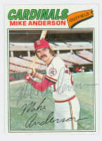 Mike Anderson AUTOGRAPH 1977 Topps #72 Cardinals   [SKU:AndeM2444_T77BB]