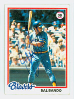 Sal Bando AUTOGRAPH 1978 Topps #265 Brewers 