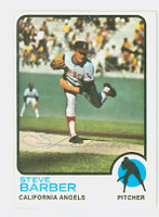 Steve Barber AUTOGRAPH d.07 1973 Topps #36 Angels 