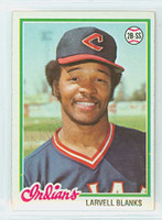 Larvell Blanks AUTOGRAPH 1978 Topps #61 Indians 