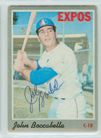 John Boccabella AUTOGRAPH 1970 Topps #19 Expos CARD IS F/P