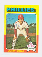 Larry Bowa AUTOGRAPH 1975 Topps Mini #420 Phillies 