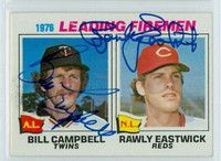 Campbell-Eastwick DUAL SIGNED 1977 Topps #8 Leading Firemen 