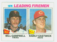 Bill Campbell AUTOGRAPH 1977 Topps #8 Red Sox Leading Firemen 