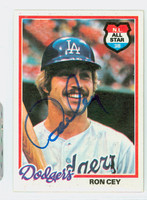 Ron Cey AUTOGRAPH 1978 Topps #630 Dodgers 