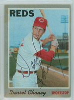 Darrel Chaney AUTOGRAPH 1970 Topps #3 Reds 
