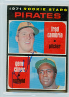 Gene Clines AUTOGRAPH 1971 Topps #27 Pirates 
