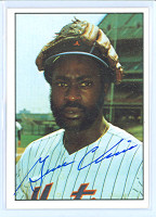 Gene Clines AUTOGRAPH 1975 SSPC Mets|Yankees #17 Mets 