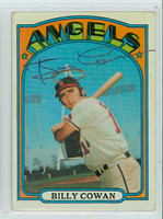 Billy Cowan AUTOGRAPH 1972 Topps #19 Angels 