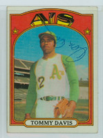 Tommy Davis AUTOGRAPH 1972 Topps #41 Athletics 