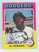 Al Downing AUTOGRAPH 1975 Topps Mini #498 Dodgers 