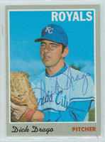Dick Drago AUTOGRAPH 1970 Topps #37 Royals 