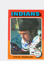 Dave Duncan AUTOGRAPH 1975 Topps Mini #238 Indians 