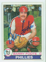 Barry Foote AUTOGRAPH 1979 Topps #161 Phillies   [SKU:FootB4604_T79BB]