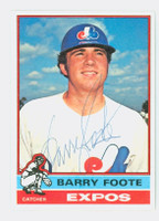 Barry Foote AUTOGRAPH 1976 Topps #42 Expos   [SKU:FootB4604_T76BB]