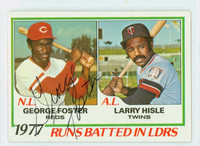 George Foster AUTOGRAPH 1978 Topps #203 Reds RBI Leaders Reds   [SKU:FostG1146_T78BBLE]