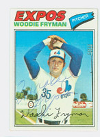 Woodie Fryman AUTOGRAPH d.11 1977 Topps #28 Expos 